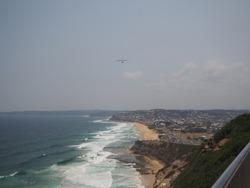 beach landscape hangglide parachute paraglide water sea