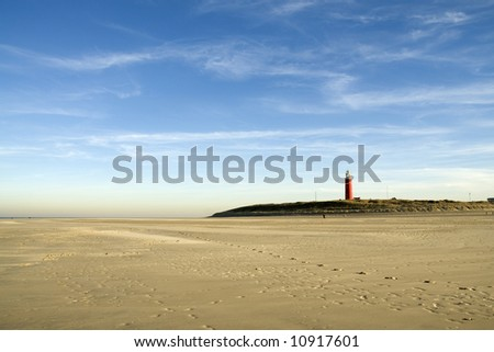 beach landscape with lighthouse