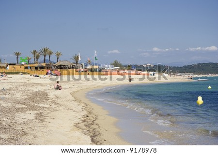 Beach Life In Saint Tropez French Riviera Mediterranean Sea Ez