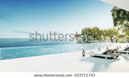 Stock Photo Beach lounge / 3D render interior