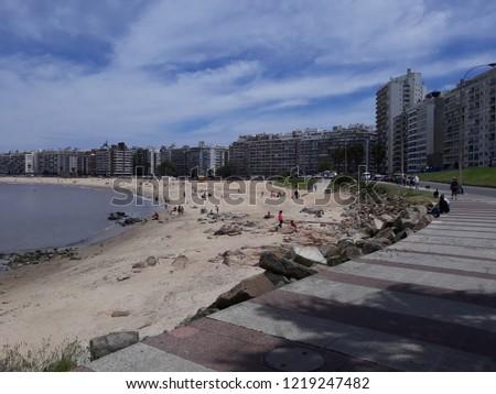 Beach Montevideo Uruguay #1219247482