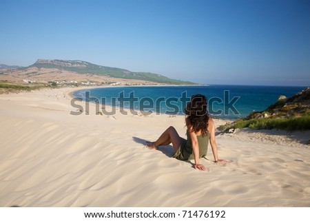 beach named Bolonia at Cadiz Andalusia in Spain