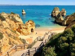 Beach near Portimão in the Algarve