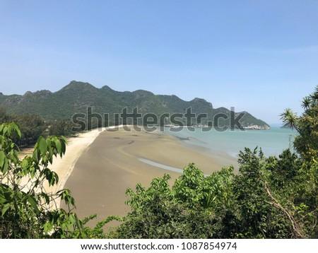 Beach near to Phraya Nakom Cave Stockfoto ©