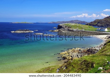 beach near Ullapool, Scotland #204483490