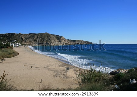 Beach of Argua Armada, Cabo de Gata, Spain