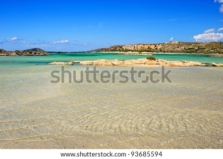 Beach of Elafonisi/Crete/Greece