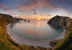 Beach of Gavieiro, also known as Silence beach, is a pebble beach located in the municipality of Cudillero, Asturias, Spain