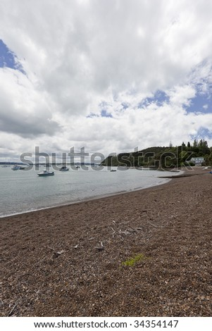 Beach of Russell, Bay of Islands, New Zealand