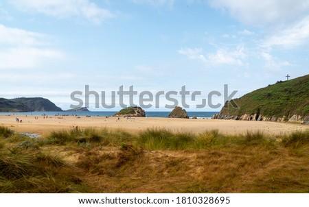 Beach of San Roman - Beautiful beach in the Cantabrian sea ( O Vicedo - Lugo - Spain) Stok fotoğraf ©