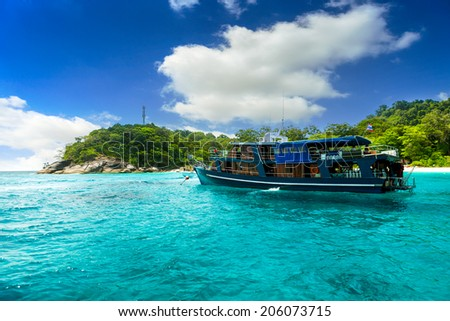Beach of Similan Islands at Phang Nga in Thailand