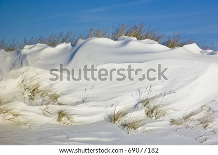 Beach of St. Peter-Ording, Germany in winter