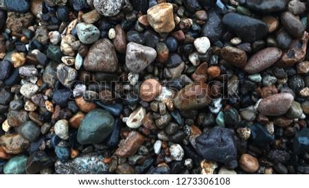 Beach of stones background