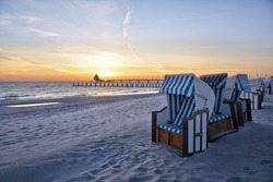 Beach of the Baltic Sea resort Zingst