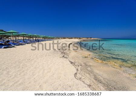 beach on Chrissi island, Crete