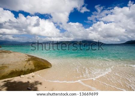 Beach on Fitzroy Island - stock photo