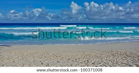 Beach on La Digue island, Seychelles, Indian Ocean, Africa