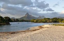 Beach on Mauritius island, Tamarin
