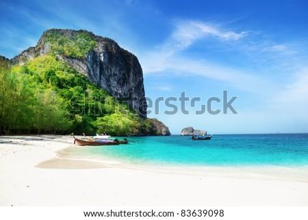 beach on poda island in Thailand