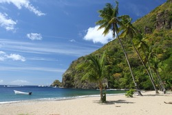 Beach on St. Lucia in the Caribbean