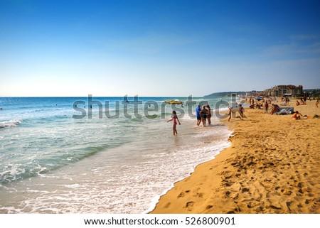 Beach on the Golden Sands, Bulgaria