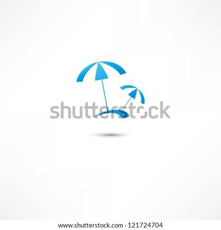 Beach parasol - stock photo