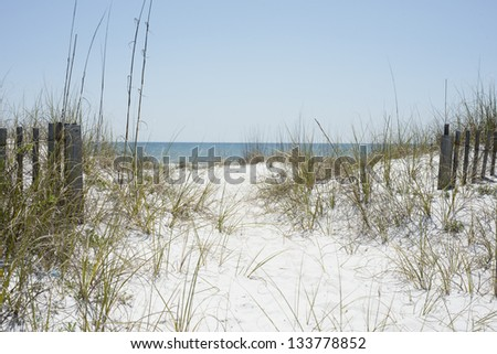 Beach Path near Pensacola Beach, Florida.