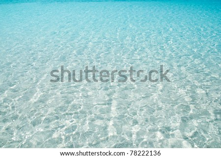 Stock Photo beach perfect white sand turquoise water balearic islands Spain
