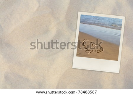 beach photo on sand