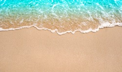 Beach sand background. Water bight background
