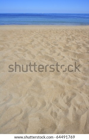 beach sand perspective  coastline shore - stock photo