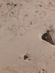 beach sand wallpaper iphone texture foot marks