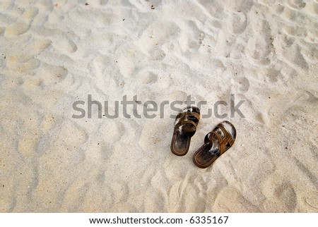 beach sand background. on White Sand background