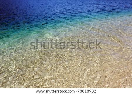 Beach scene in Porto Koufo, Sithonia, Halkidiki, Greece