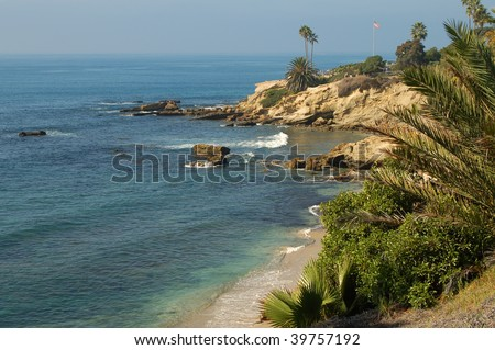 Beach scene; Laguna Beach, California