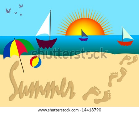 beach scenery essay