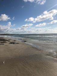 Beach scenery. Salinas, State of Para, Brazil.