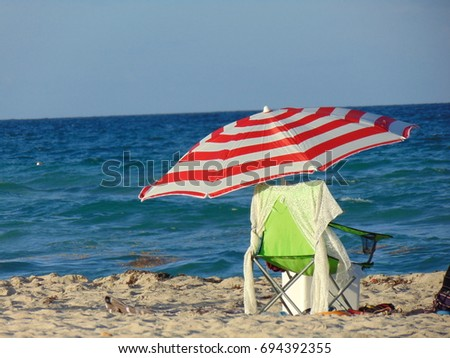 beach umbrella  #694392355