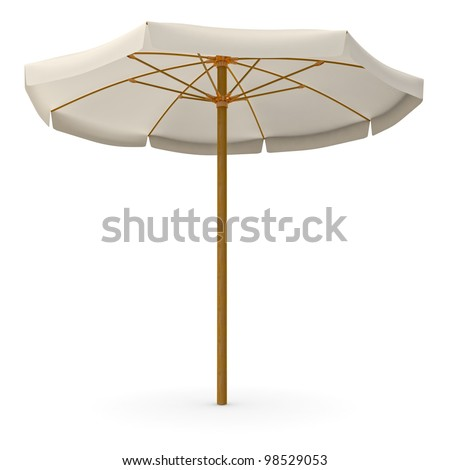 Beach umbrella - stock photo