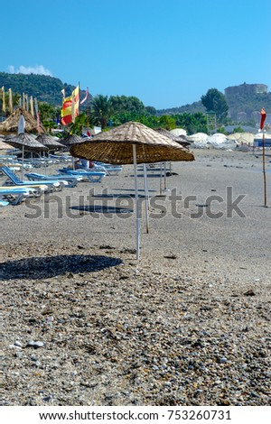 Beach umbrella beach  #753260731