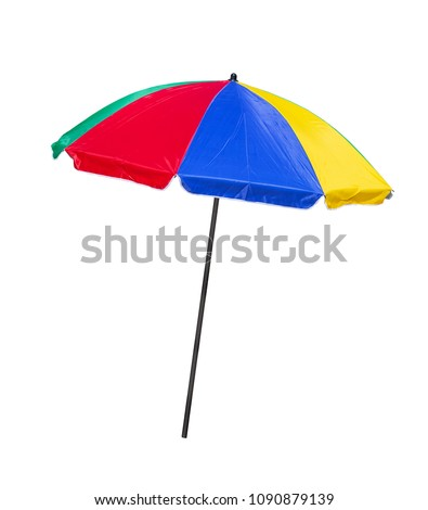 Beach umbrella isolated on a white background  #1090879139