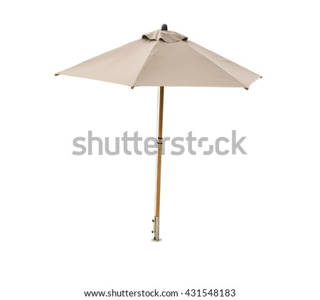 beach umbrella isolated on white background #431548183