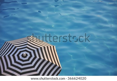 beach umbrella near the water #366624020