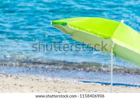 beach umbrella on the beach #1158406906