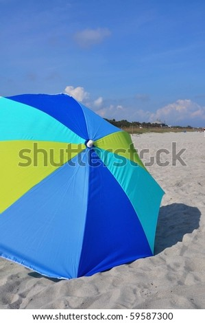 Beach vacation concept, perfect for cover art