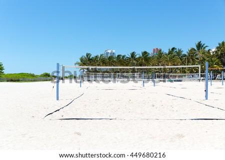 Beach valleyball field