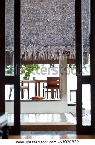 beach villa in maldives island resort