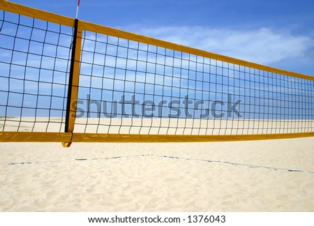 beach volley net