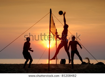 Beach volleyball Is a popular sport that is played on the beach and playground sand