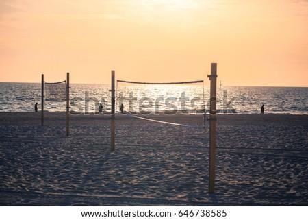 beach volleyball net #646738585